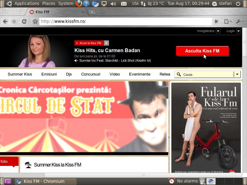 Configurarea Rhythmbox in Ubuntu pentru ascultarea radioului Kiss FM